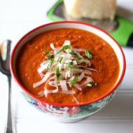 The best oven roasted tomato soup