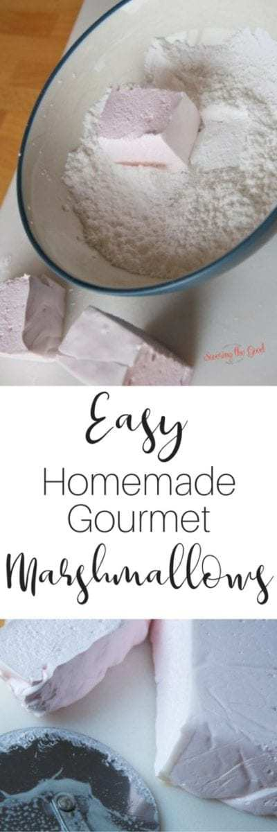 Gourmet marshmallows are super easy to make at home. Simple ingredients such as corn syrup, gelatin, sugar and water with the flavor of your choice and you have homemade gourmet marshmallows to give or enjoy