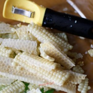 freezer corn freshly stripped from the corn cob