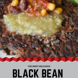 Black Bean Burger for pinterest with text