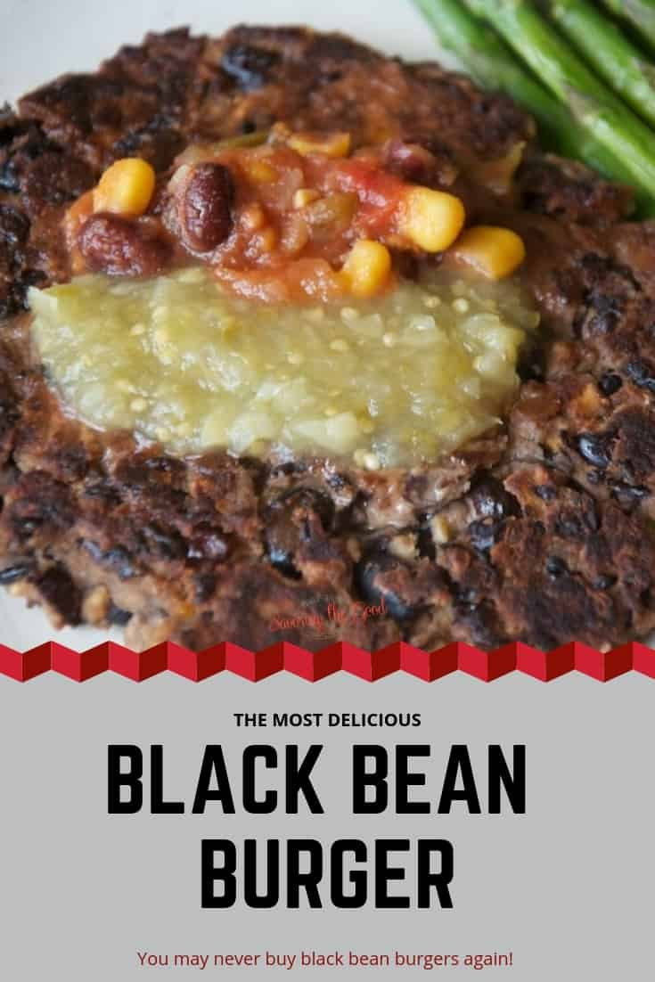Making a homemade black bean burger is easier than you think! 4 simple ingredients and you will have the most flavorful black bean burger.You may never buy a store bough black bean burger again. #blackbean #blackbeanburger