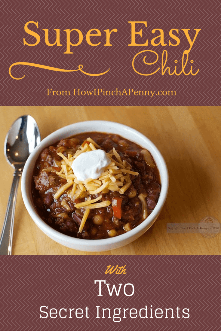 Super Easy Chili from HowIPinchAPenny.com