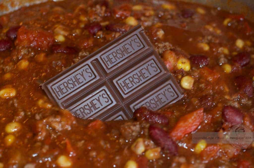 hershey chocolate in easy chili