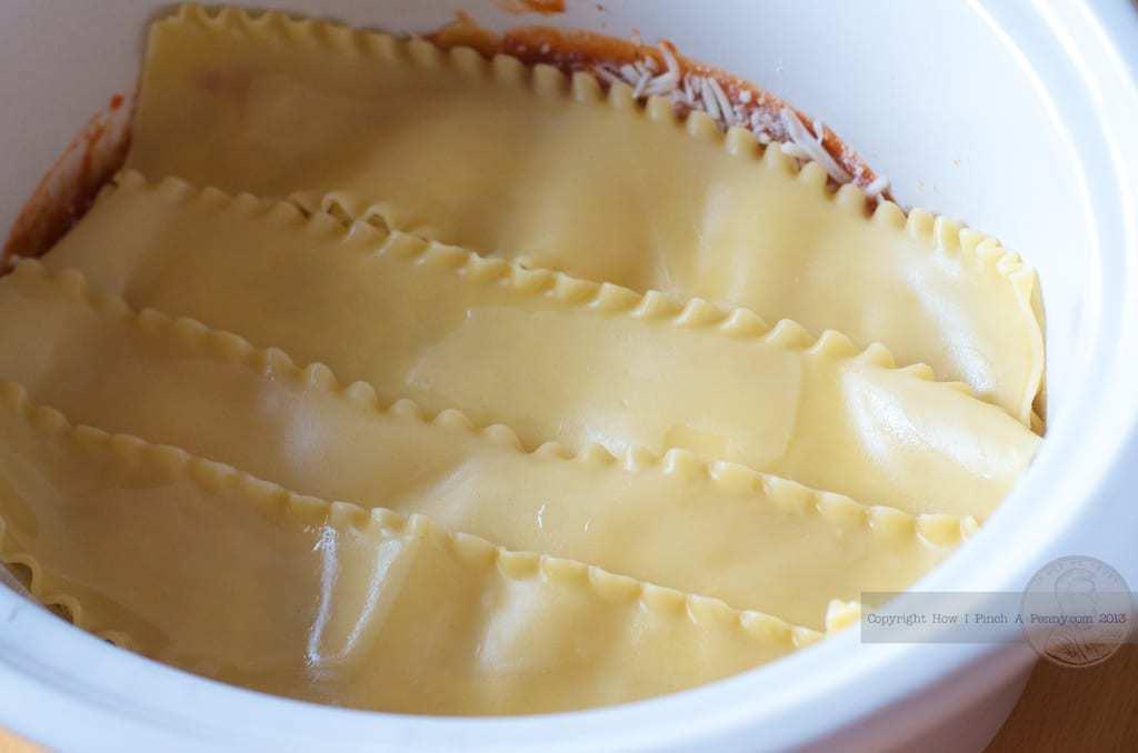 noodles in a Crockpot Lasagna