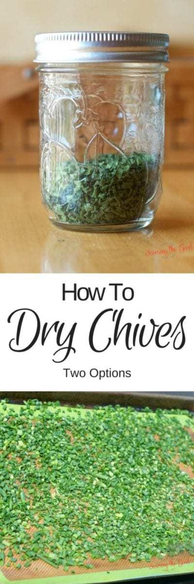 How To Dry Chives Freezing