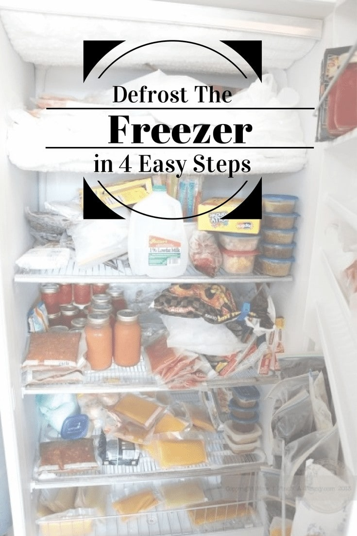 How to defrost the freezer in 4 easy steps from How I Pinch A Penny.com
