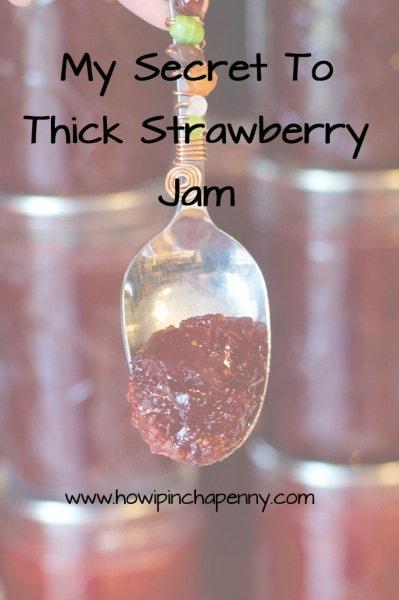 How to make thick strawberry Jam via How I Pinch A Penny.com