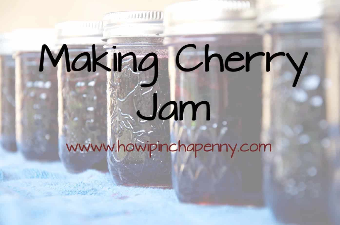 making cherry jam pinterest