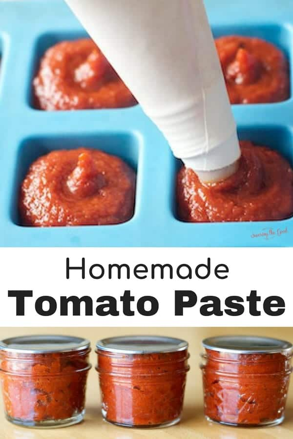 When your garden is overflowing with ripe tomatoes, it is the perfect time to make homemade tomato paste. This tomato paste recipe has only three ingredients and there are two options for storing the tomato paste. Once you know how to make homemade tomato paste, store bought will no longer be an option for you. #tomato #tomatopaste #summertomatoes #backyardgarden #containergardening