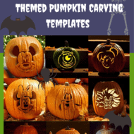 Over 24 Disney Themed Halloween Pumpkin Carving Templates