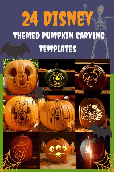 24 Disney Themed Halloween Pumpkin Carving Templates via How I Pinch A Penny.com