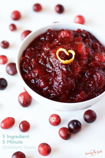 3 Ingredient Homemade Cranberry Sauce Made in 5 Minutes