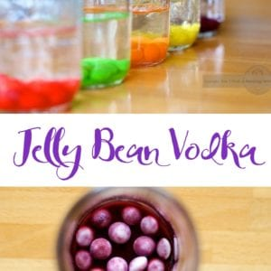 Making homemade jelly bean vodka is a great way of using up leftover easter candy. It is easier to make a custom jelly bean vodka than you may think. Combine different flavors or go with a intense single flavor for your custom jelly bean vodka recipe.