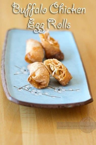 buffalo chicken egg roll