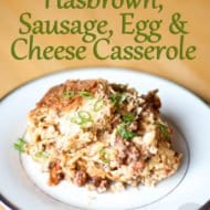 Crockpot Hashbrown, Sausage, Egg & Cheese Casserole