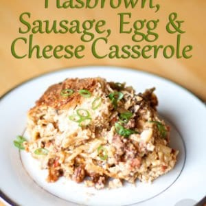 Crockpot Sausage Egg & Cheese Casserole from How I Pinch A Penny.com