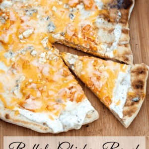 Buffalo Chicken Ranch Grilled Pizza
