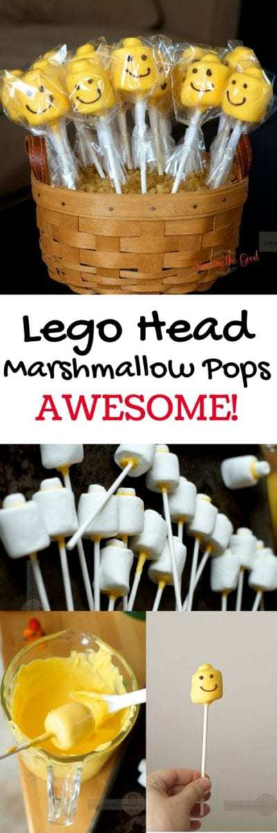 Lego Head Marshmallow Pops full image