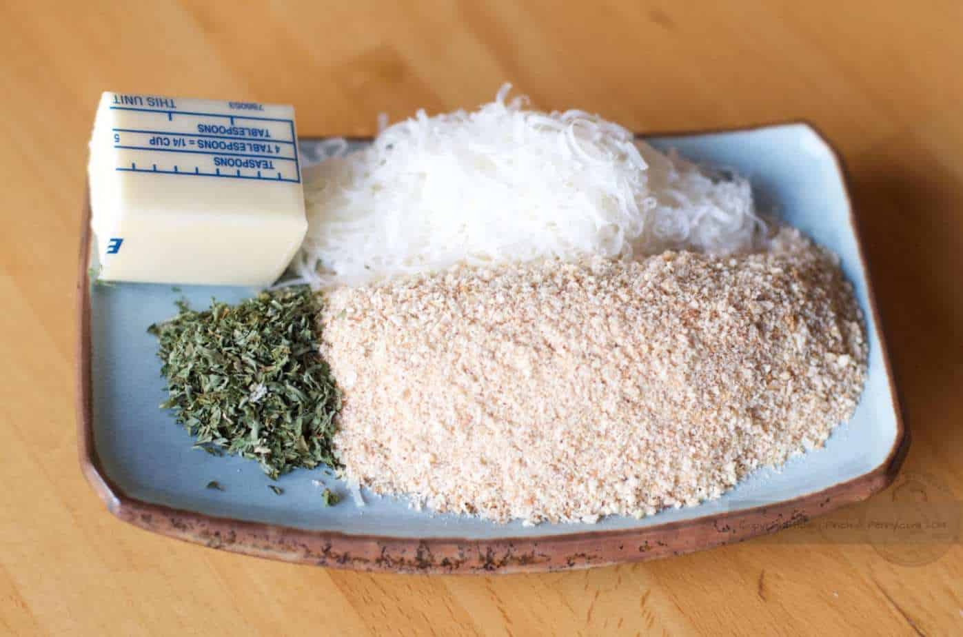 Hot Artichoke Spinach Dip crumb topping ingredients
