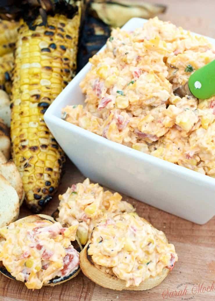 Pimento Cheese Roasted Corn Spread from savoringthegood.com