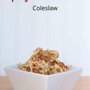 Spicy Thai Peanut Coleslaw