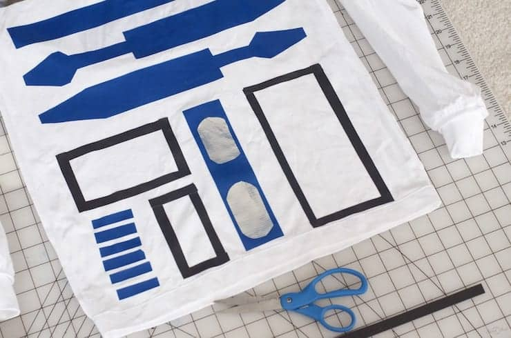 easy R2D2 Costume with long sleeves