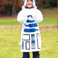 Last Minute No Sew Star Wars R2D2 Kids Costume