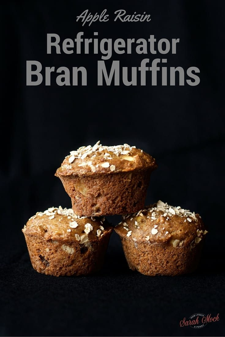 Apple Raisin Refrigerator Bran Muffins