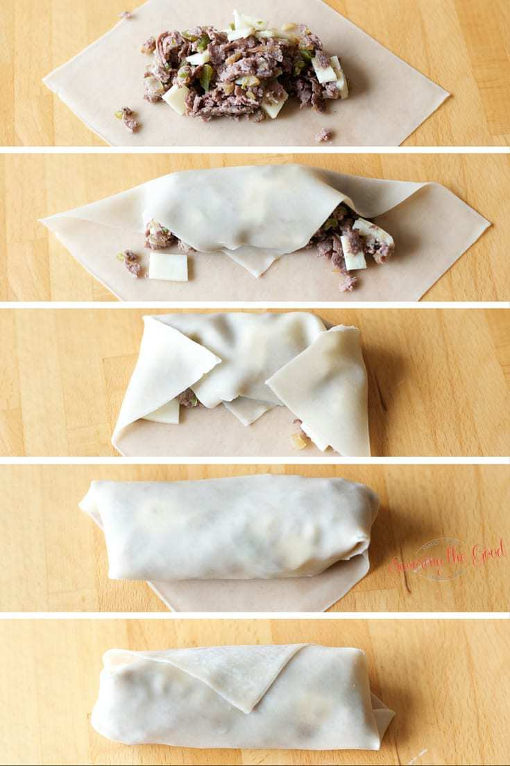 Easy Cheesesteak Egg Roll Recipe