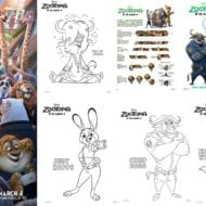 Disney's ZOOTOPIA Coloring Sheets