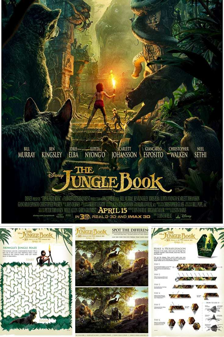 Disney's The Jungle Book Activity Sheets