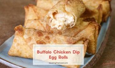 Buffalo Chicken Dip Egg Roll Recipe