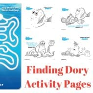 Finding Dory Coloring Pages and Activity Pages
