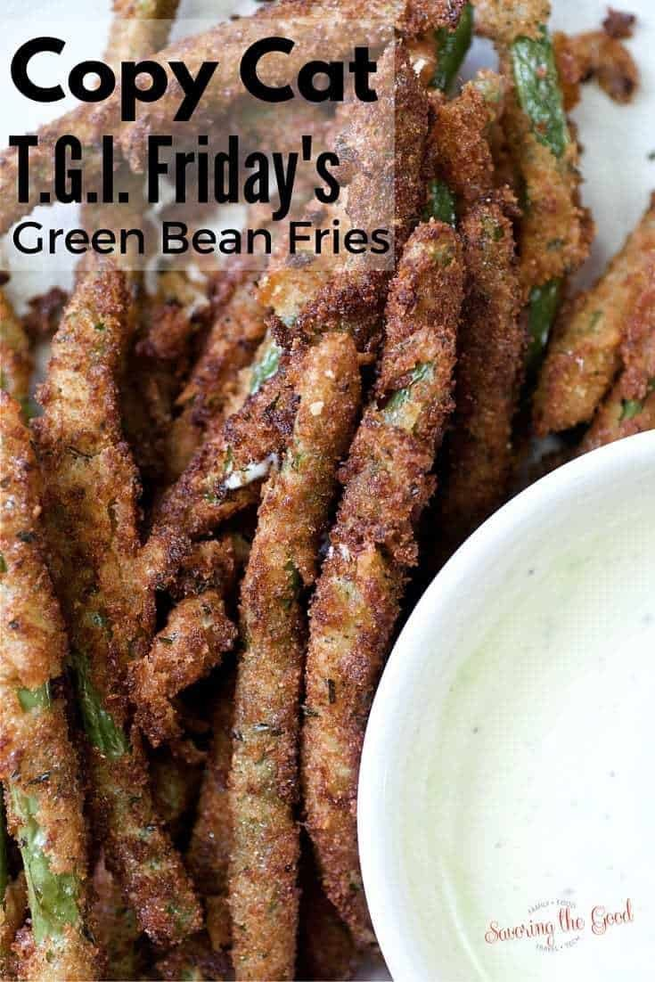One of our favorite restaurant appetizers is fried green beans. Nothing is more satisfying than dipping crunchy coated fried green beans in a wasabi spiked ranch dressing to start off a great meal. This is my homemade fried green beans recipe that is sure to make you feel like you are eating at your favorite restaurant. #appetizer #friedgreenbeans #coycatrecipe #tgifridays #STGRecipes