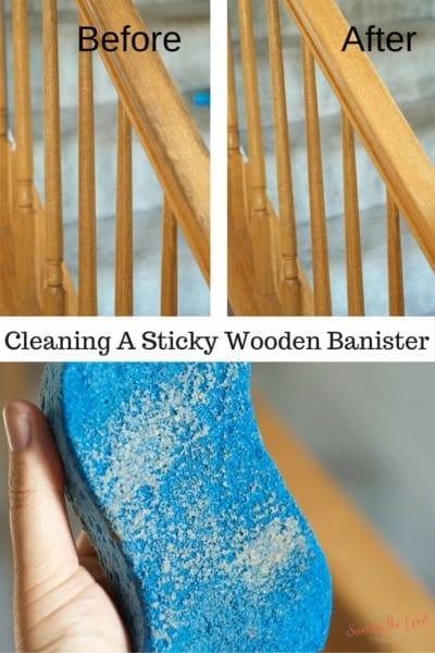 Cleaning Sticky Wooden Bannisters