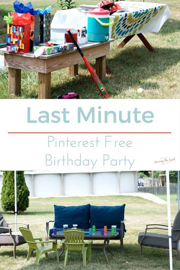 Last Minute Pinterest Free Kids Birthday Party