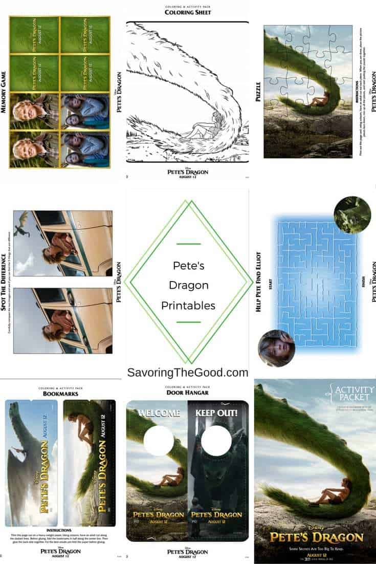 Pete's Dragon Activity Sheets And Coloring Pages