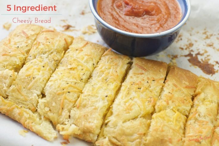 Five Ingredient Cheesy Bread Sticks with video instructions