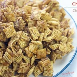 Easy Churro Chex Snack Mix Recipe found at savoringthegood.com