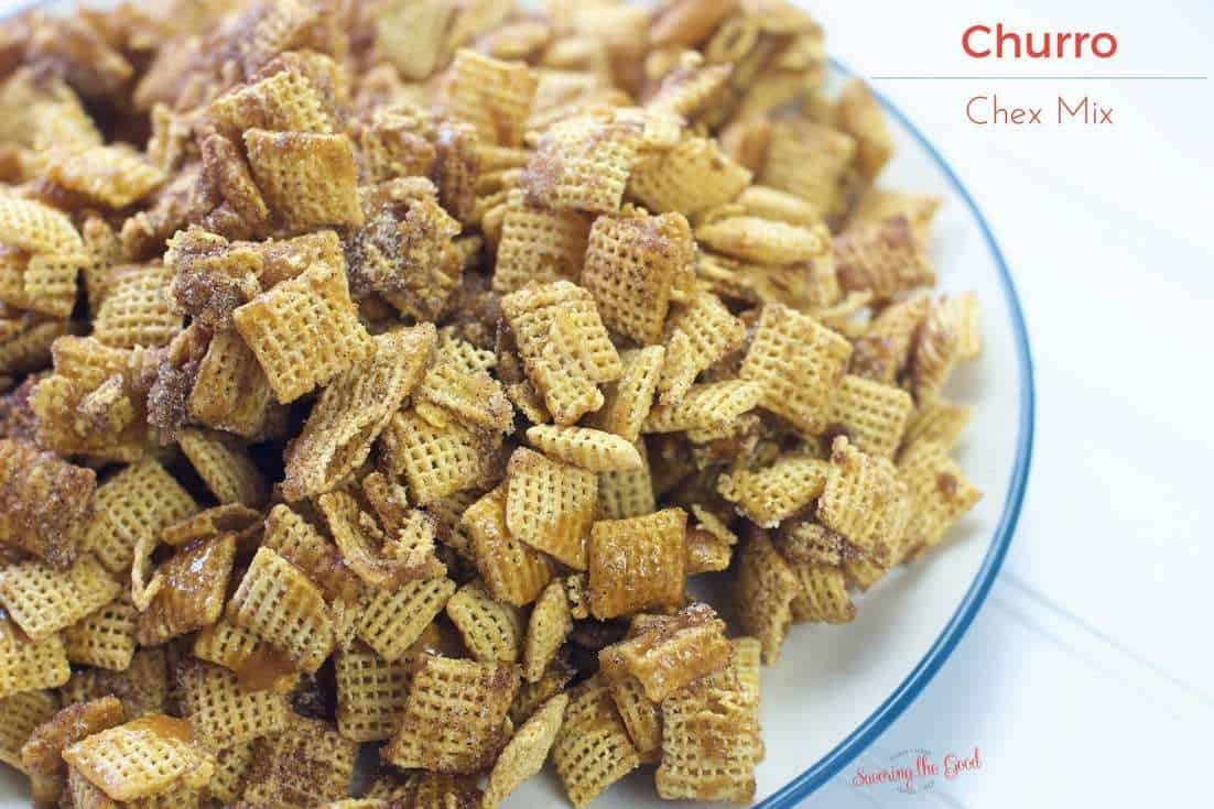 I love a crunchy, sweet churro and this churro Chex mix recipe hits the spot! They are a favorite to snack on when we are walking down Main Street USA in Walt Disney World. We can make churros at home but sometimes you don't want to pull out the fryer and all the mess that is involved with that operation. This is a super simple snack that combined all the textures and flavors of your beloved churro! One you start snacking you are not going to want to stop! #chexmix #churro #snackmix