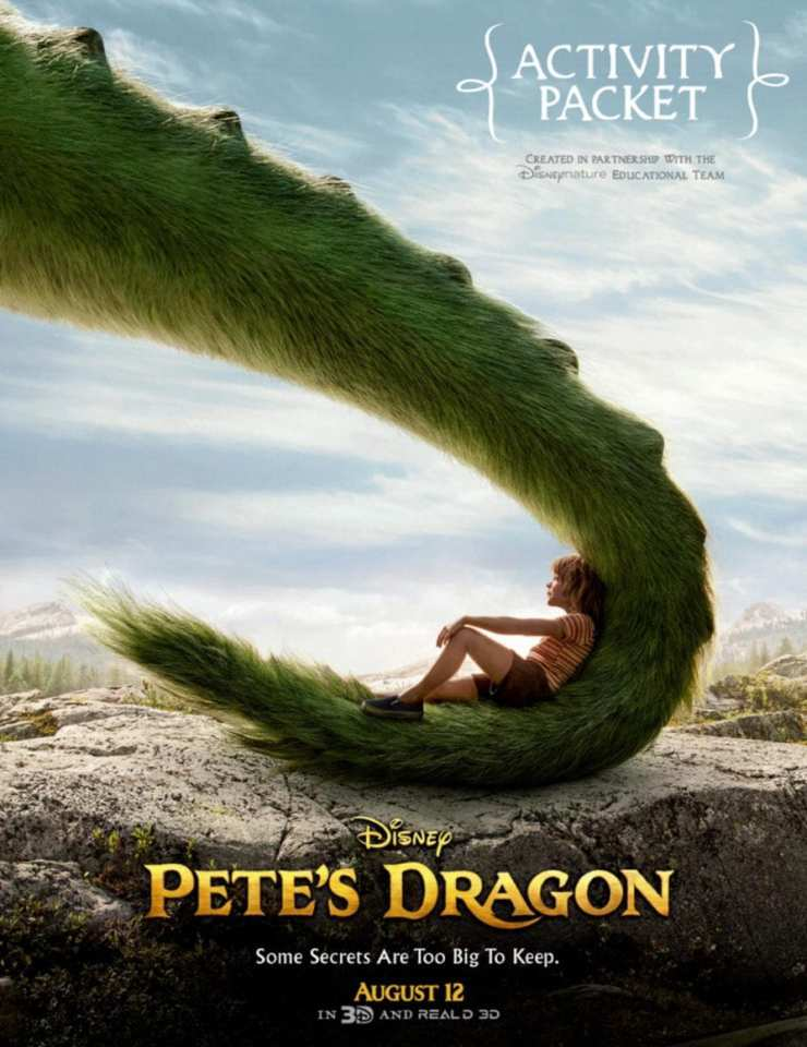 Pete's Dragon Activity Sheets And Coloring Pages 1