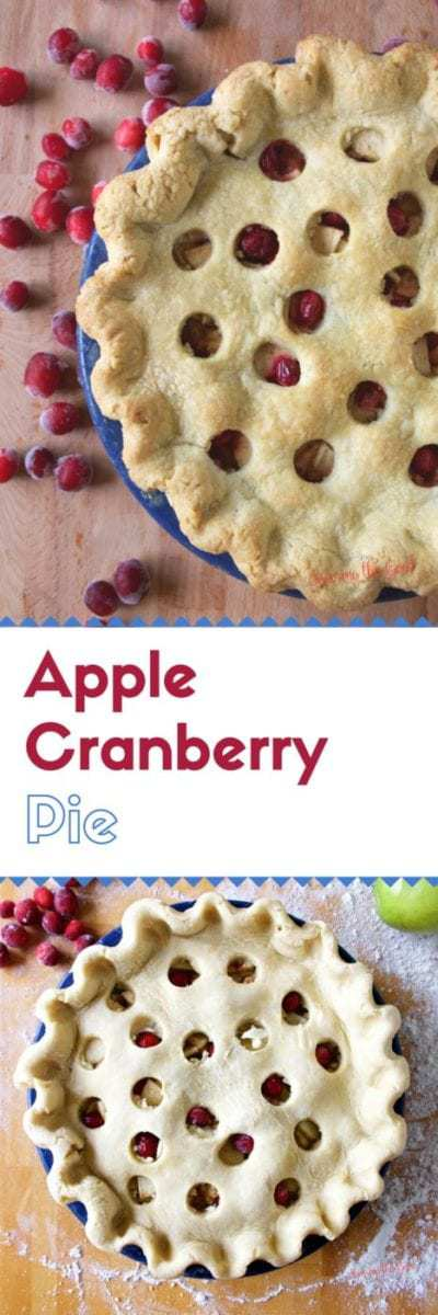 Add a layer of tart to your apple pie with the addition of fresh cranberries. Step by step instructions to create a delicious apple cranberry pie.