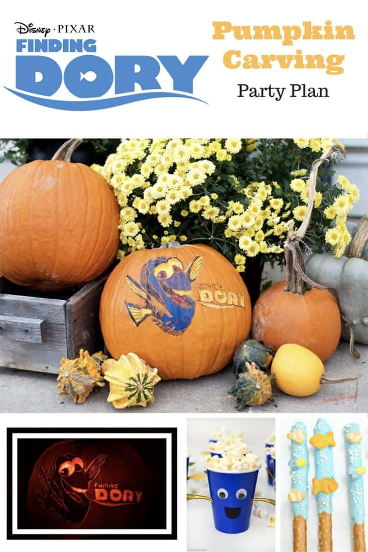 Finding Dory Pumpkin Carving Party Plan