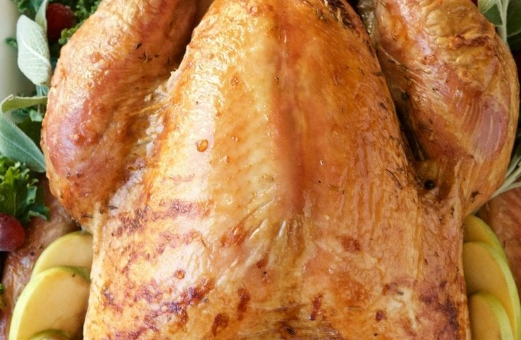 Easy Juicy Oven Roasted Brined Thanksgiving Turkey Recipe