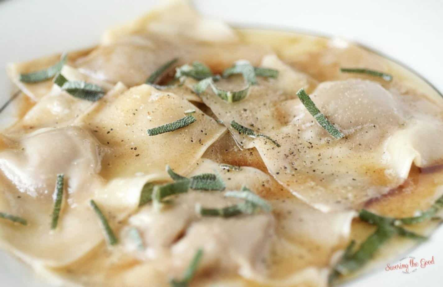 Easy Pumpkin Ravioli With Brown Butter Sauce And Sage