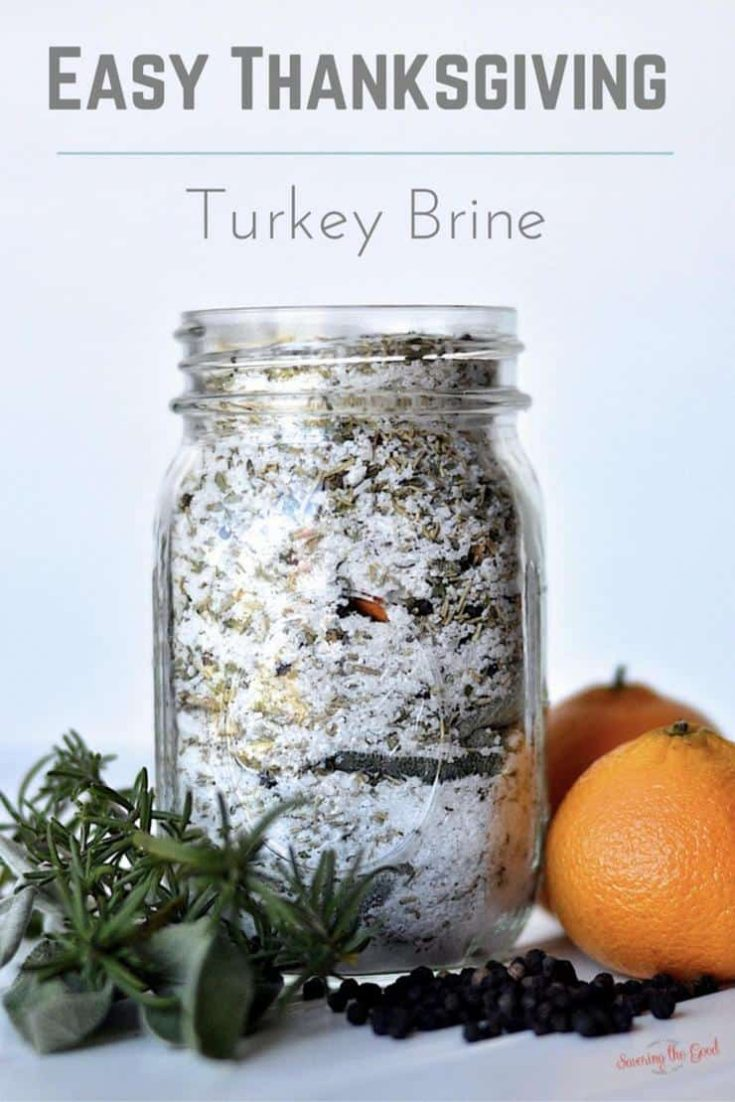 If you are looking for the most flavorful, succulent, delicious Thanksgiving turkey you need this easy Thanksgiving turkey brine recipe. Follow my simple instructions for how to brine a turkey for Thanksgiving. This a recipe for a dry turkey brine mix and it is great for a hostess gift or a gift exchange. #thankgiving #turkeybrine #juicyturkey #thanksgivingrecipe #brinemix #drybrinemix