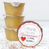 Applesauce Cup Valentine with free printable