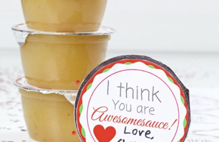 Applesauce Cup Valentine's Day Free Printable
