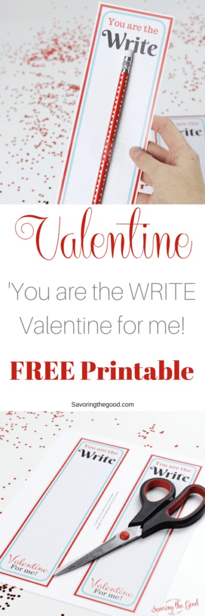 Perfect for classroom Valentines, thisfree printable pencil Valentineis super easy for your kids to give. Great for schools that are candy free, nut free or allergy friendly. You can get these free printable pencil Valentine completed in minutes.