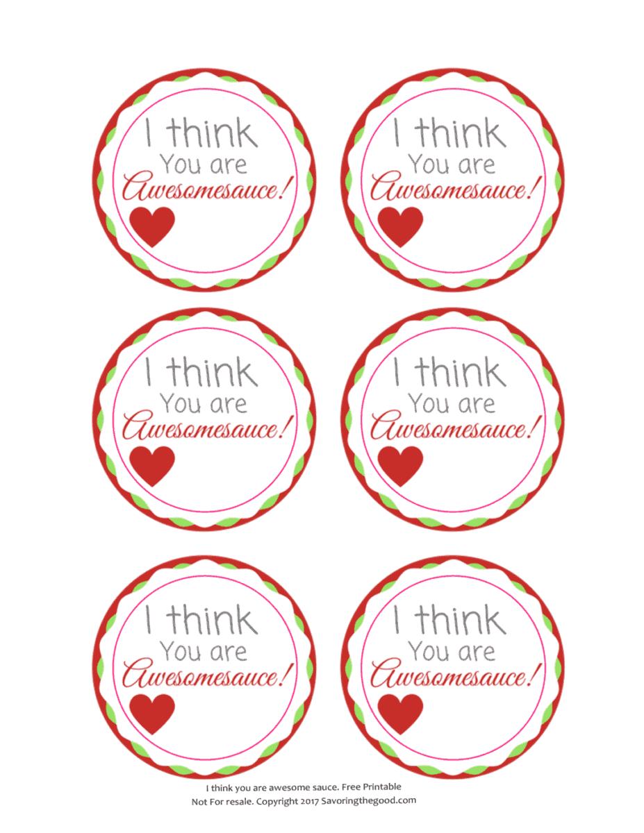 Free Printable Applesauce Valentine | Allergy Friendly Nut Free ...